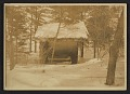 View Gladys Thayer in her sleeping hut digital asset number 0