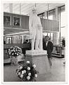 View Edgar W. Bowlin with sculpture digital asset number 0