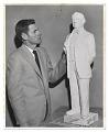 View Edgar W. Bowlin with sculpture. digital asset number 0