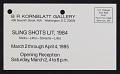 View B.R. Kornblatt Gallery records, 1971-1992 digital asset number 0