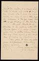 View John George Brown letter to Hayden W. Wheeler digital asset: verso