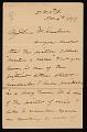 View John George Brown letter to Mr. Kraushaar digital asset number 0