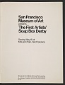 View San Francisco Museum of Art program for the first artists' soap box derby digital asset: page 2