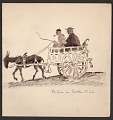 View Donkey pulling a cart with two passengers digital asset number 0