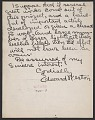 View Edward Weston letter to Holger Cahill digital asset: verso