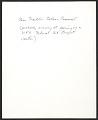 View Eleanor Roosevelt digital asset: verso