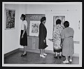 View Visitors at <em>Paintings by Negro WPA Artists</em>, Crosby Garfield Extension Gallery, Raleigh Art Center digital asset number 0