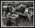 View Photograph of woodworking class making looms at Melrose Federal Art Center, Melrose, New Mexico digital asset number 0
