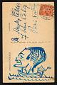 View Unidentified sender postcard to Alexander Calder, Paris, France digital asset: verso