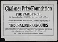 View Chaloner Prize Foundation records, 1915-1974 digital asset number 0
