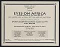 View Flyer for <em>Eyes on Africa</em>, Cinque Gallery digital asset number 0