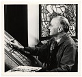 View Charles Connick working on a stained glass design digital asset number 0