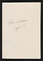 View Fabienne Lloyd Christmas card to Joseph Cornell digital asset: verso