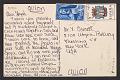 View Lee Bontecou postcard to Joseph Cornell digital asset: verso
