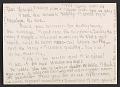 View Lee Bontecou, New York, N.Y. item to Joseph Cornell, Flushing, N.Y. digital asset: verso