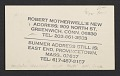 View Robert Motherwell postcard to Joseph Cornell digital asset number 0