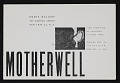 View Kootz Gallery catalog for exhibit <em>Motherwell: First exhibition of paintings in three years</em> digital asset: cover