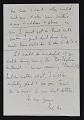 View Robert Motherwell letter to Joseph Cornell digital asset: verso