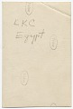 View Louise King Cox deplaning in Egypt digital asset: verso