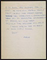 View Merle Armitage letter to Imogen Cunningham digital asset number 0