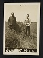 View John Steuart Curry and an unidentified man in a field digital asset number 0