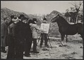 View Photograph of John Steuart Curry sketching a horse digital asset number 0
