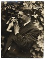 View Photograph of Alfred Lenz with a cat digital asset number 0