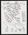 View Dale Chihuly letter to Arthur Coleman Danto digital asset number 0
