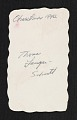View Thomas Lanigan-Schmidt Christmas card to Arthur Danto digital asset: verso