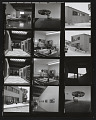 View Contact sheet with images of Ronald Davis's Malibu, Florida home and studio digital asset number 0