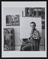 View George Deem seated at an easel digital asset number 0