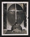 View Jay DeFeo in front of an artwork digital asset number 0
