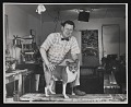 View Roy De Forest in his studio with his dog King digital asset number 0