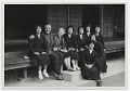 View Margaret de Patta and her husband Eugene Bielawski, with a group of Japanese artists in Kyoto digital asset number 0