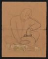 View Sketch of a seated man shaping a pot digital asset number 0