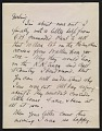 View Arthur Dove letter to Helen Torr Dove digital asset: page 1
