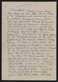 View Oscar Bluemner letter to Arthur Garfield Dove digital asset number 0