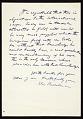 View Elie Nadelman letter to Edith Gregor Halpert digital asset: verso