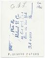 View Frank DuMond at easel digital asset: verso