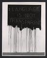View Detail of Mel Bochner's <em>Language is not transparent</em> from the <em>Language IV</em> exhibit at the Dwan Gallery in New York digital asset number 0