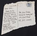 View David Geiger mail art to John Evans digital asset: verso