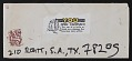 View Blaster Al Ackerman mail art to John Evans digital asset: envelope verso
