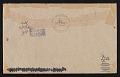 View Anna Banana, British Columbia mail art to John Evans, New York, New York digital asset: envelope verso