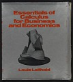 View Book jacket to <em>Essentials of Calculus for Business and Economics</em> by Louis Leithold digital asset number 0