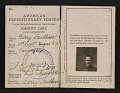 View Barry Faulkner's American Expeditionary Forces identity card digital asset: inside