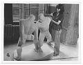 View Josephine Frankel Levy with her sculpture <em>The Wrestlers</em> digital asset number 0