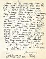 View Robert Arneson letter to Barbara Fendrick digital asset: page 2