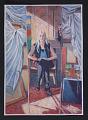 View Reproduction of Ethel Fisher's painting <em>Margaret Fisher reflected in studio mirror</em> digital asset number 0