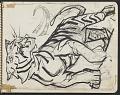 View James Fitzgerald sketchbook #4 digital asset: sketchbook page 13