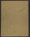 View James Fitzgerald sketchbook #14 digital asset: cover back
